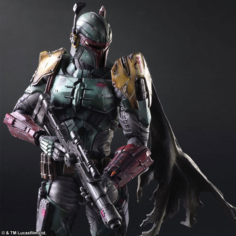 Play Arts Star War Imperial Stormtrooper Darth Vader Bounty Hunter Boba Fett 26cm PVC Action Figure Doll Toys Kids Gift play arts star wars the force awakens boba fett figure action figures gift toy collectibles model doll 204