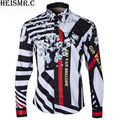 HEISMR.C 2017 Mens Brand Shirt ,Architecture Printing Striped Shirt,Men's Long Sleeve Dress Shirts Man Luxurious Shirt Tops AZ81