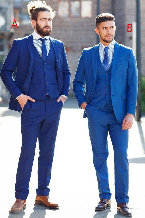 2017 Latest Coat Pant Designs Navy Blue Wedding font b Men b font font b Suit