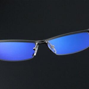 Image 4 - KATELUO 2020 alüminyum bilgisayar gözlük Anti mavi ışık yorgunluk radyasyon dayanıklı erkek gözlük optik gözlük çerçevesi 130