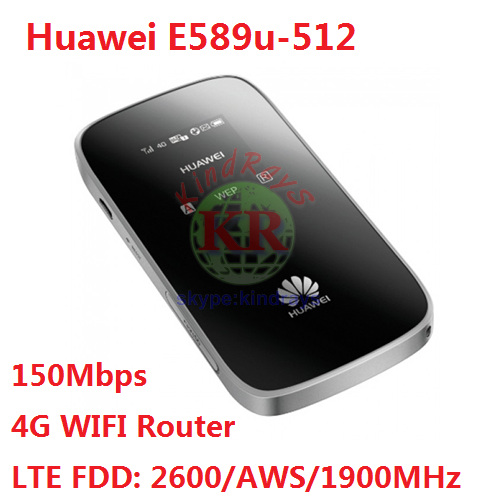 Unlocked Huawei E589u-512 4G LTE Mobile Pocket WiFi Hotspot Plus With SIM Card Slot