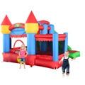 Yard frete grátis 6 em 1 all-round bouncer inflável casa castelo bouncy gigantes para crianças jogos de partido