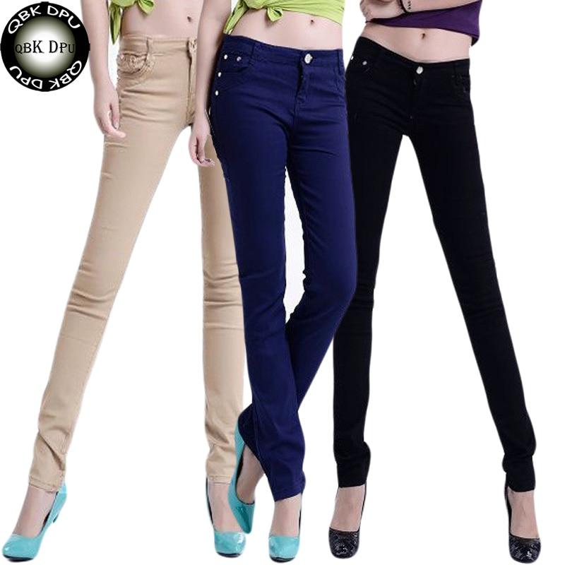 High Elastic Force Low waist Pencil Pants   Jeans   Formal Office work Pants Female Black Plus Size Casual Trouser Streetwear Women