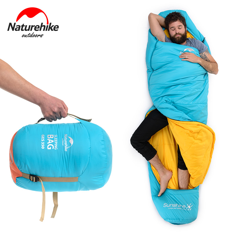 Nature hike Spring Autumn Outdoor Camping Hiking Mummy Cotton Sleeping Bag Splicing Single Waterproof Wearable Comfortable gazelle outdoors apply spring autumn winter camping outdoor mummy sleeping bags