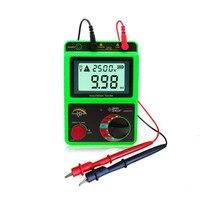 New Orginal Portable Ground Earth Insulation Resistance Meter Earth Megohmmeter Voltage Ohm Resistance Measuring Tester Megger