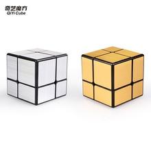 Mirror 2x2x2 Speed Cube Magic Cube Qiyi Mirror Blocks Magic Cube  Puzzle  cubo magico Toys For Children Kids - Black + Silver lehmann audio black cube se ii silver