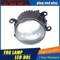 Car Styling LED Fog Lamp for Peugeot 206 DRL Emark Certificate Fog Light High Low Beam white led Projector 2 function