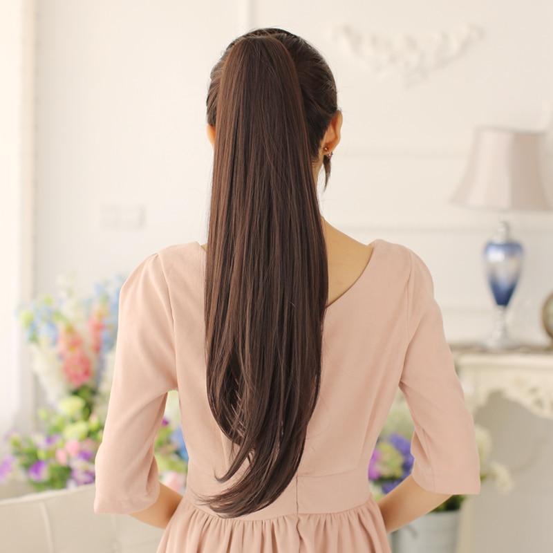 SHANGKE 24 '' Длинный прямой конский хвост - Синтетические волосы - Фотография 4