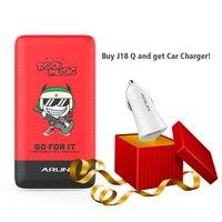 Arun 10000 мАч Запасные Аккумуляторы для телефонов J18-Q красный мобильный Зарядное устройство Dual USB внешний Батарея со светодиодным индикатором ...