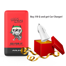 Здесь можно купить  ARUN 10000mah Power Bank J18-Q Red Mobile Charger Dual USB External Battery With LED Indicator For Mobile Phones and Tablet PC