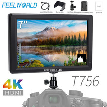 Feelworld T756 7 Inch IPS On Camera Field Monitor DSLR 4K HDMI Full HD 1920x1200 Portable LCD Monitor for Nikon Sony etc Cameras цена и фото