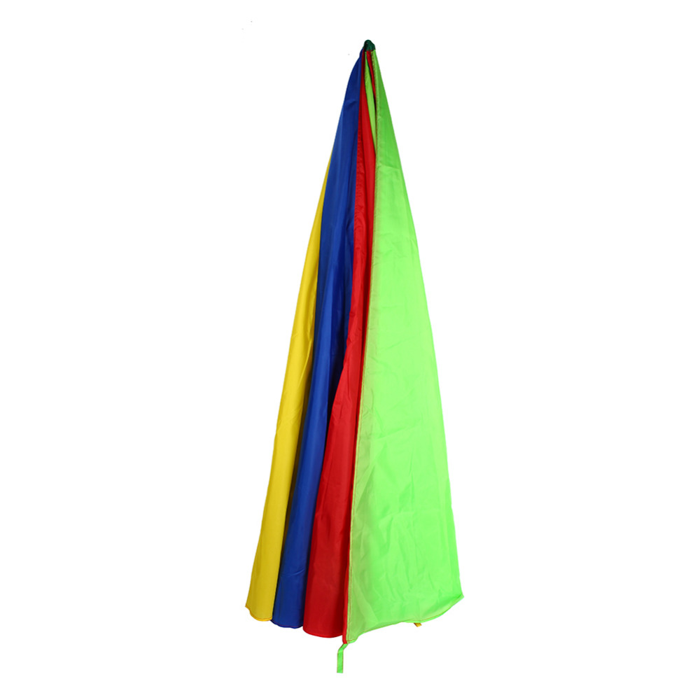 Parachute Toy 2m/3m/3.6m Kids Sports Development Outdoor Colorful Umbrella Parachute Toy Play Parachute Outdoor Game