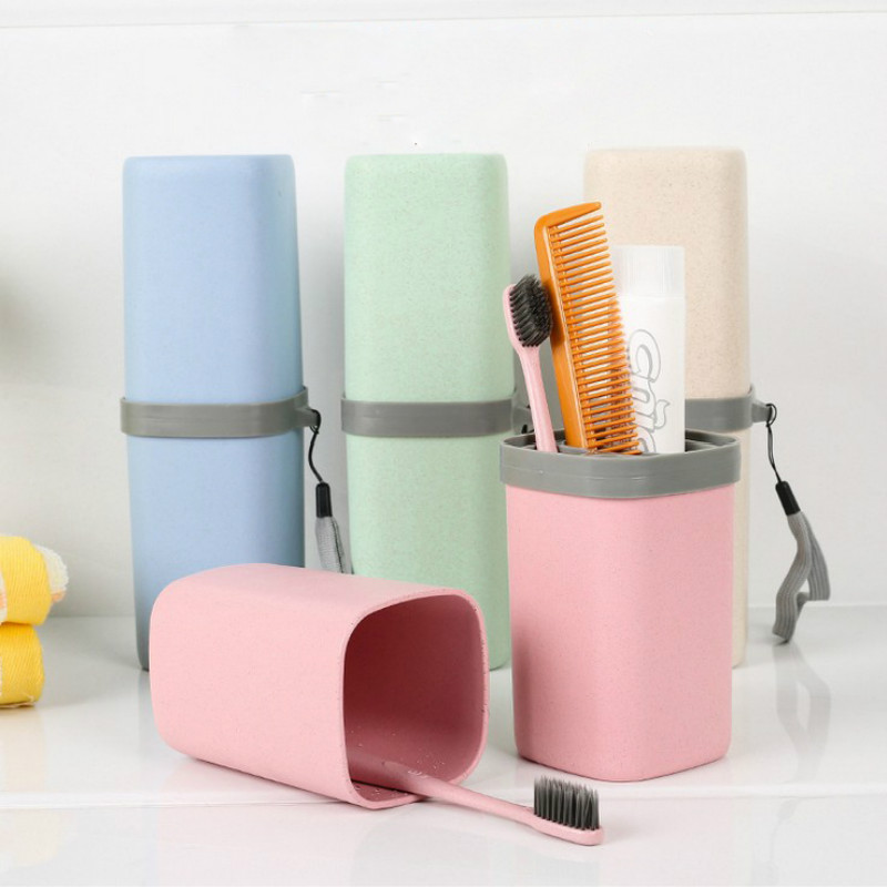 Portable Travel Toothbrush Storage Box Toothpaste Holder Camping Toiletries Organizer Case Bathroom Accessories