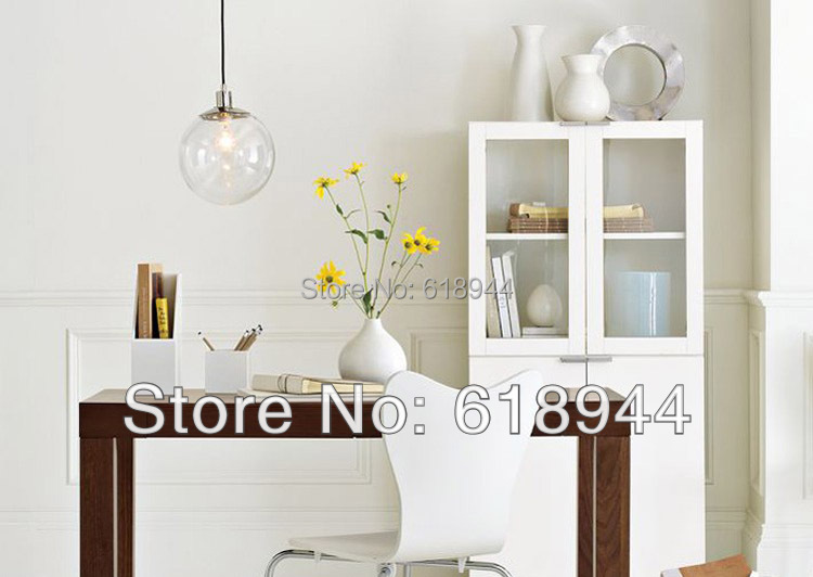 Hot Sales 20CM Round Ball Glass Pendant Lights Dining Room