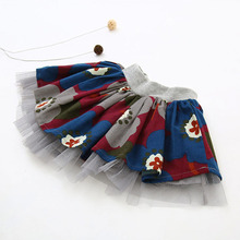 Girls Tutu Pettiskirt Girls Tutu Skirt For Ballet Dance Party Cotton Colorful Short Floral Casual New Arrival Dance Skirt