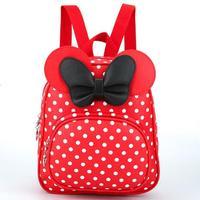 New Baby Cô Gái Trẻ Ba Lô Phim Hoạt Hình Dễ Thương Bướm Knot Minnie ba lô Công Chúa Nhỏ Cúi Túi Mouse Tai Black Pink Red màu xanh