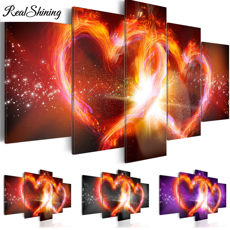 Multi-picture DIY Diamond Painting Full Embroidery Kits Abstract Red Hearts 5D Square/Round Drill Kitchen Home Decor S4155Multi-picture DIY Diamond Painting Full Embroidery Kits Abstract Red Hearts 5D Square/Round Drill Kitchen Home Decor S4155
