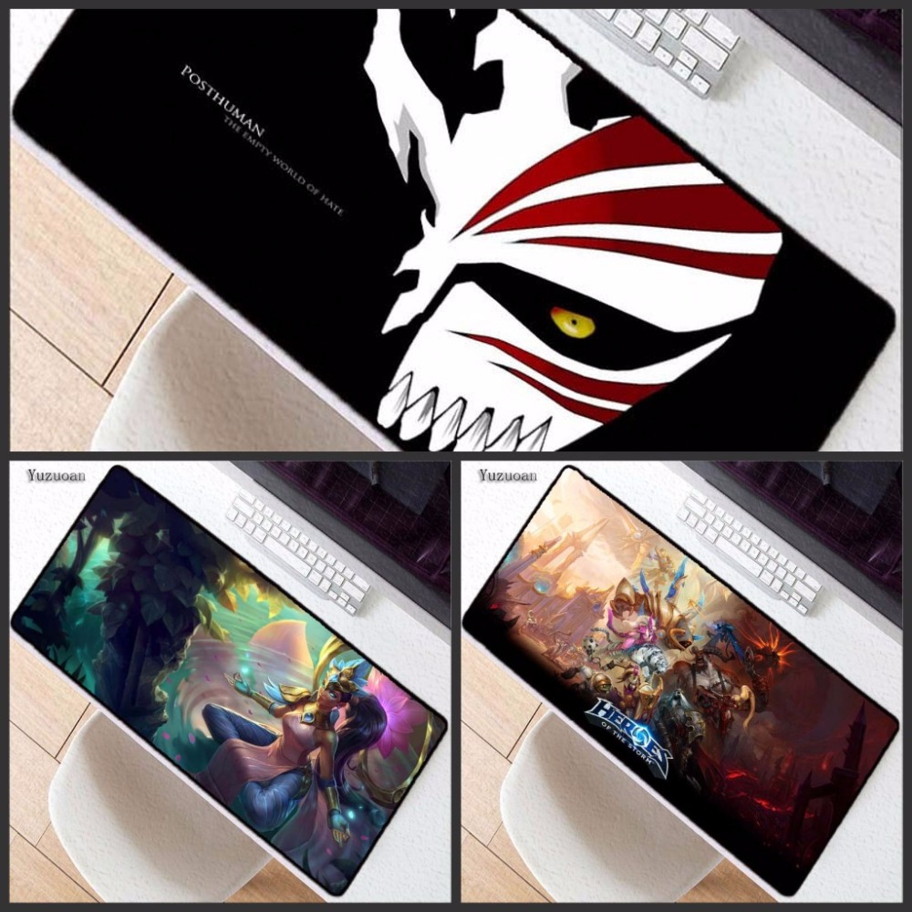 Yuzuoan Free Shipping League Of Legends 90x40cm Large Overlock Mouse Pad Speed Hot Gaming Desk Mousepad Laptop Notebook Mat To Adopt Advanced Technology Computer & Office Computer Peripherals