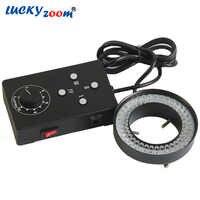 Luckyzoom Professional Adjustable Binocular Trinocular Microscope Ring Light 72 Led Illumination Light Source Free Shipping