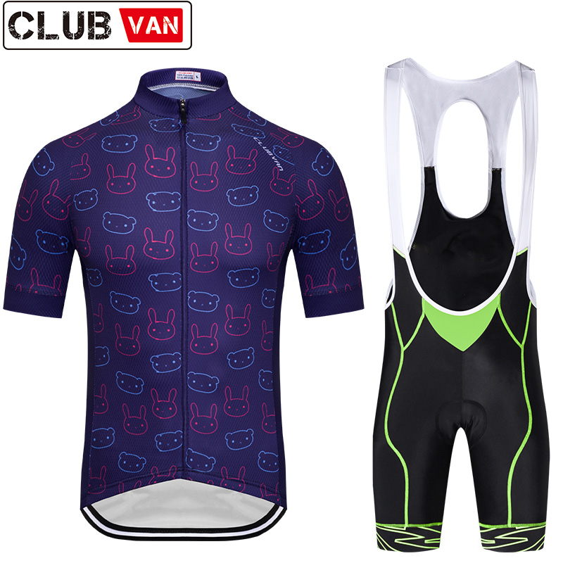 CLUBVAN New 2018 team  cycling jersey bike shorts set Ropa Ciclismo quick dry mens pro cycling wear bicycle Maillot Culotte