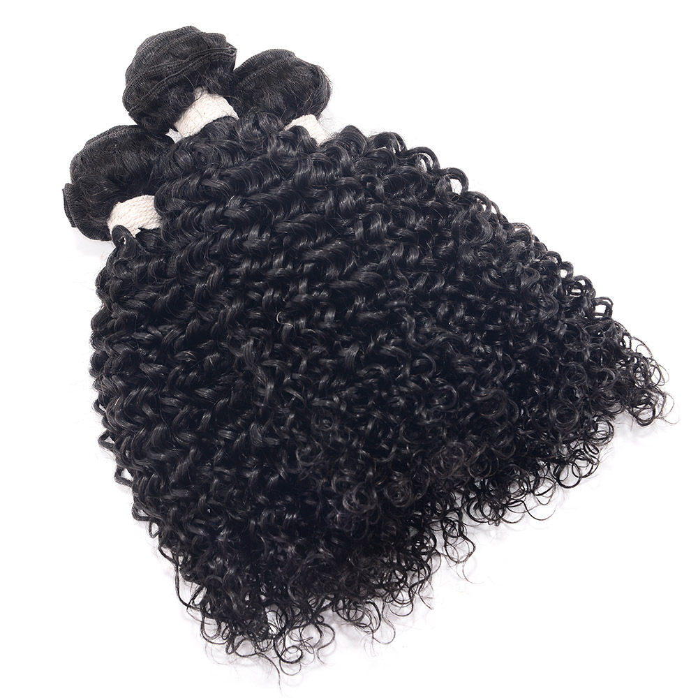CHOCOLAET Remy Human Hair Bundles Afro Kinkys Curly Hair 3 Bundles Natural Color Brazilian Hair Remy Human Hair Kinky Curl ...