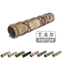 Emerson Tactical 22cm Suppressor Mirage Cover Coyote Brown Quick Release Airsoft Accessory Adjustable with Shock strap