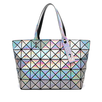 2018 New Hologram Bag Women's Handbag Fashion Drops of Water Style Totes Geometric Hand Bag Free Shipping