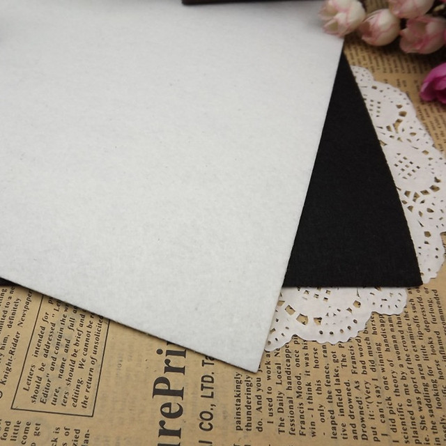 Low Price 3pcs/lot 40CMX50CM Felt Fabric Black and White Polyester Non-woven Felt 1 MM Thick Handmade Fabric DIY Not Woven Cloth