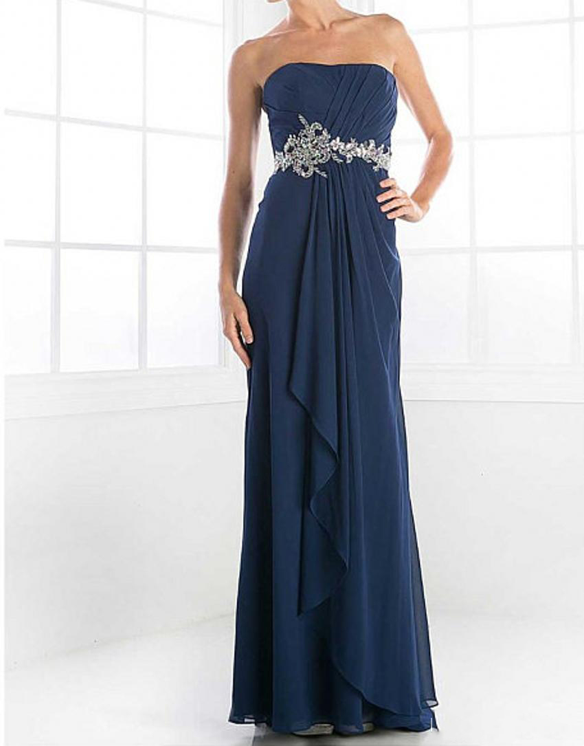 2019 Navy Blue Elegant Chiffon With Empire Waist Mother Of ...