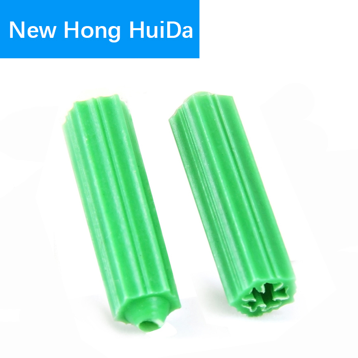 uxcell 7X28mm Household Masonry Plastic Screws Anchor Expansion Pipe Fixings Wall Connector Green 15pcs
