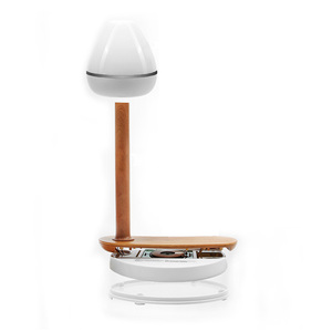 Image 5 - Draadloos Opladen מגע מנורת שולחן עץ QI אלחוטי טלפון מטען אוניברסלי אינדוקציה טעינה יחידה עבור iphone Xs מקס סמסונג S9