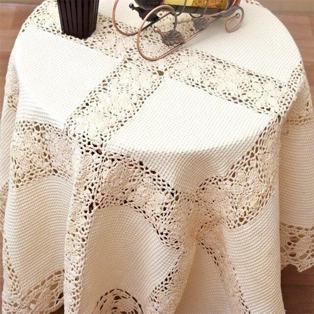 Elegante de encaje de ganchillo hecho a mano mantel 130*130 cm, el ...