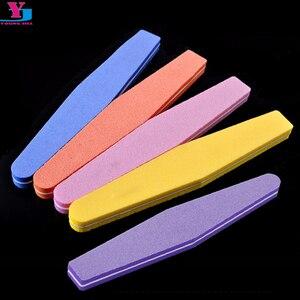 10 X профессиональные пилочки для ногтей, буфер для полировки ногтей, тонкие полумесячные 100/180 инструменты для красоты ногтей, алмазные губки Spong Bloc Polissoir