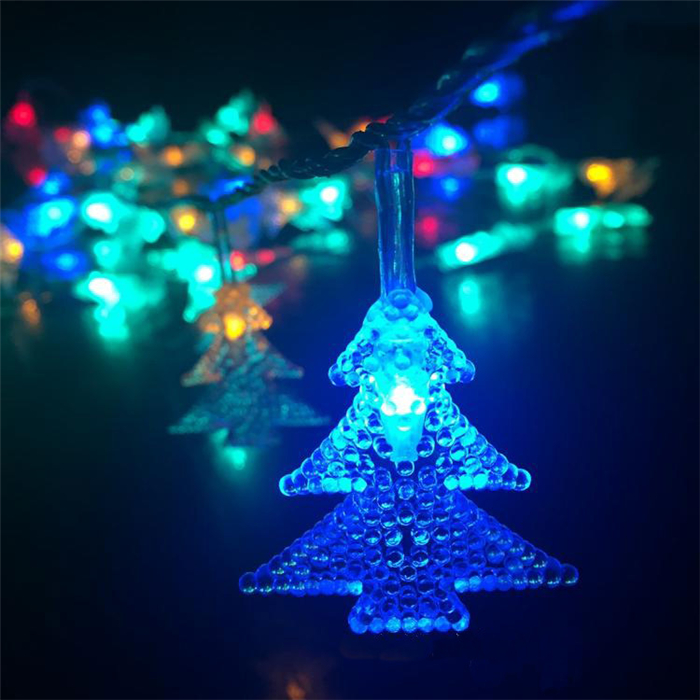 LED Christmas Tree Modeling Fairy Lights String Christmas Window Patio Garland Decoration Lights ...