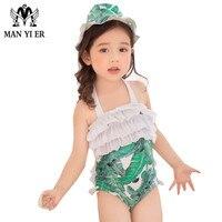 MANYIER Kinder Sommer Schwimmen ein Stück Baby Badeanzug mit Kappe Floral Bademode für Kind Mädchen Badeanzug Alter 3 ~ 1J