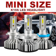 HLXG 2PCS 10000LM 6000K H7 LED H4 H1 H3 Light H7 led Bulbs Cars 50W SMD Chips White Automobiles Headlamp Lamp(China)