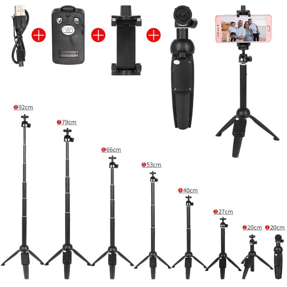 New Foldable Selfie Mini Tripod Monopod Bluetooth Remote Control  And Camera Tripod Mount Stand Holder Stick For Smartphones