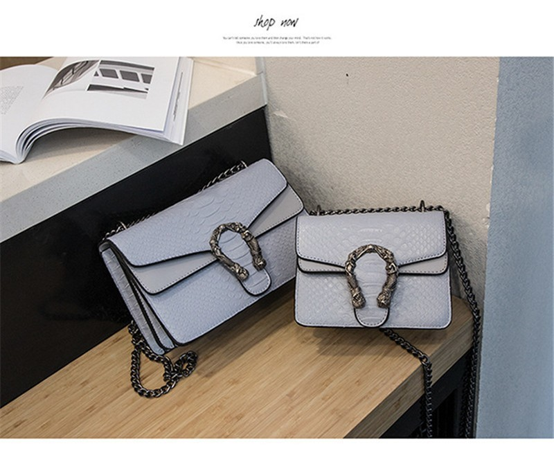 Luxury Handbags Women Bags Designer 2018 Alligator PU Leather Version Of Black Blue Gray Clutches Chains Ladies Crossbody Bags 20