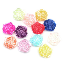 LF 50Pcs Mixed Flower 18mm Pearl Decoration Craft Flatback Cabochon Embellishments For Scrapbooking Kawaii Cute Diy Accessories