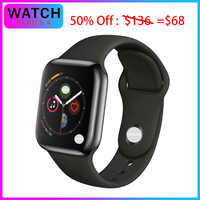 IWO 8 Plus 44mm Bluetooth i Smart Watch Series 4 1:1 SmartWatch for iOS Android Heart Rate ECG Pedometer Upgrade support hebrew
