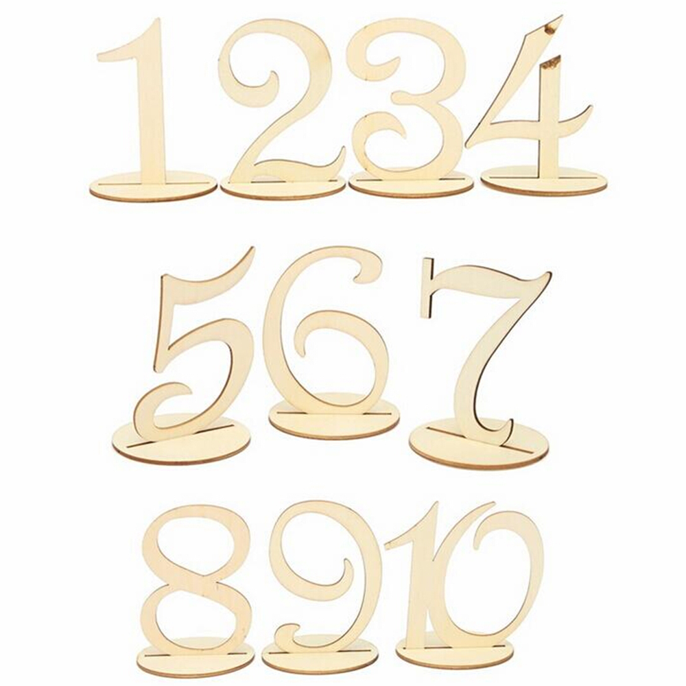 Wooden 20pcs/set Table Numbers Holder Rustic Wedding Birthday Party Banquet Table Decoration Signs Event Party Supplies Mold