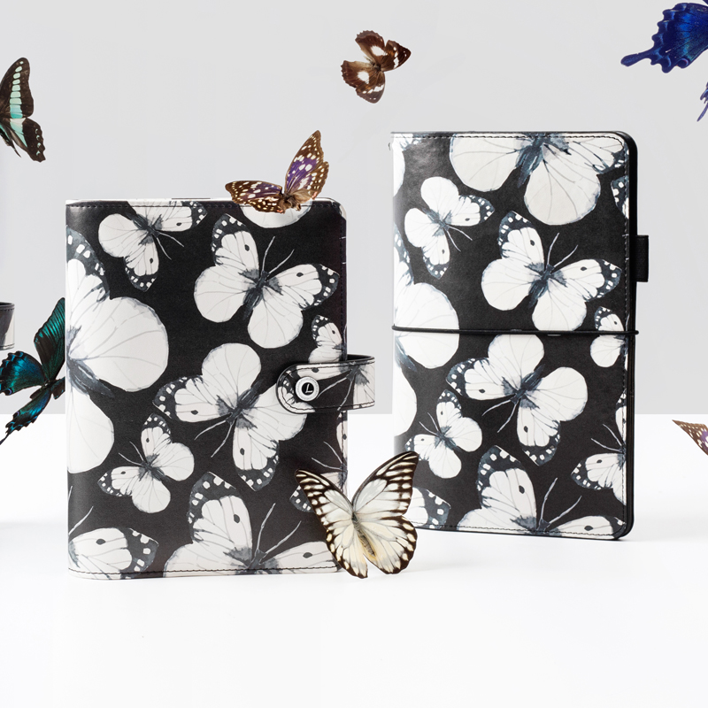 Lovedoki Free shipping New dokibook 2019 A5 A6 notebook planner kawaii diary School stationery organizer black butterfly Vintage
