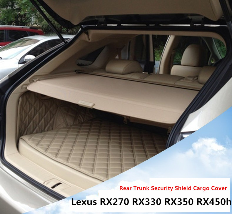 Car Rear Trunk Security Shield Cargo Cover For Lexus RX270 RX350 RX450h 2008.09.10.11.12.2013.2014.2015 High Qualit Accessories car rear trunk security shield cargo cover for hyundai tucson 2006 2014 high qualit black beige auto accessories