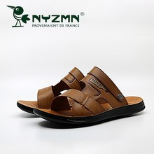 Men Sandals Genuine Split Leather Breathable Beach Roman Brand Outdoors Shoes Flip Flops Slippers Sneakers