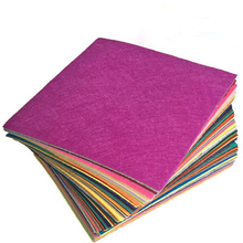 40Pcs 30x30cm Nonwoven Fabric DIY Toys Gift Colorful Manual Felt Cloth Polyester Tablecloth Square Hand Crafts For Exhibition