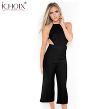 ICHOIX 2017 summer New sexy rompers womens jumpsuit straps club party backless sleeveless jumpsuits bodysuit overalls Playsuit