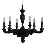 Несколько кулон черный освещения Holland оригинальный ретро смолы бар романтические свечи Ресторан Декоративные ZH ZX184
