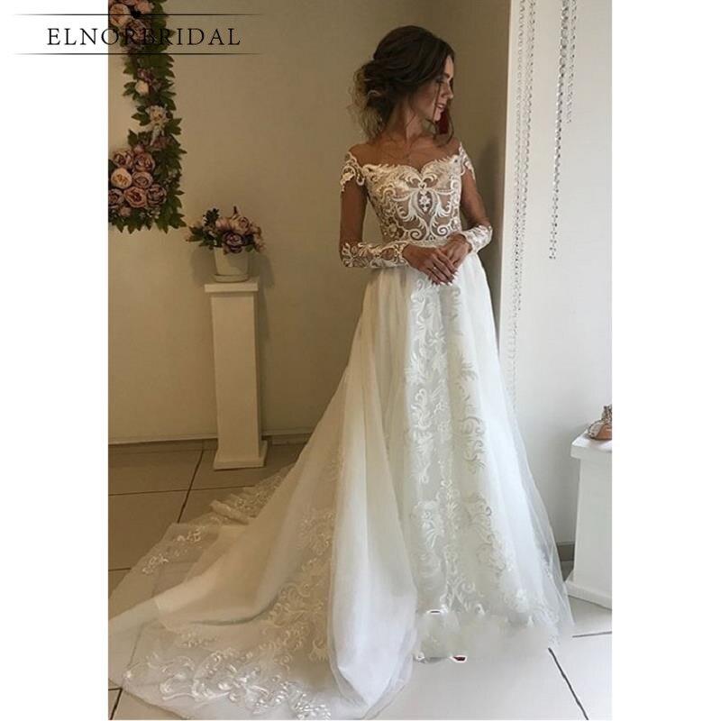 Modest Wedding Dresses 2019: Modest Lace Wedding Dresses 2019 Vestidos De Novia Long