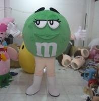 Зеленой фасоли костюм-талисман для взрослых Бин талисман