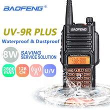 Baofeng UV 9R плюс 8 W 2800 mAh рация УКВ радиостанции IP67 Водонепроницаемый Baofeng УФ 9R двухстороннее радио UV9R Охота радио